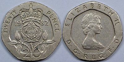 UK  20 New Pence  1982