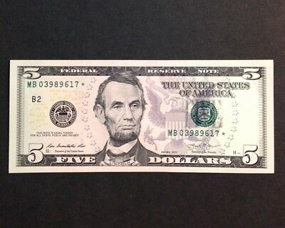 Uncirculated 2013 $5 Star Notes