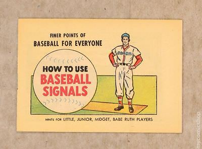 Finer Points of Baseball For Everyone: How to Use Baseball Signals #1962 VF+ 8.5