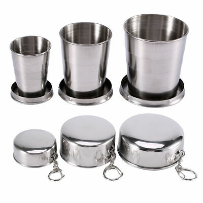 Stainless Steel Portable Travel Folding Collapsible Cup Telescopic Outdoor Cup