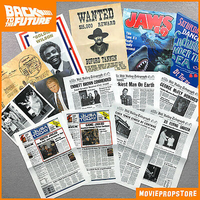 14-pieces Back to the Future PROP COLLECTION - 14 AMAZING BTTF PROPS