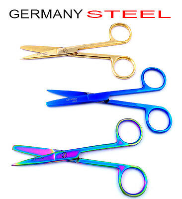 Germany Nurses Scissor Titanium Bandage Veterinary First Aid Blunt Rounded Sharp