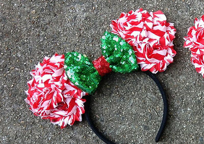 8c4b5be936276 Disney World Couture Mouse Ears Christmas Holiday-red   green -Disneyland -new