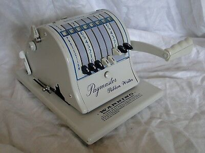 Vintage Paymaster Ribbon Writer Check Writer Series 8000 - Nice