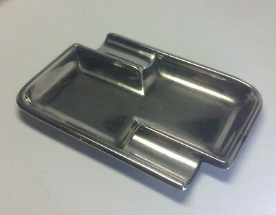 c1940 Vintage Solid 835 Sterling Silver Ashtray Size M44
