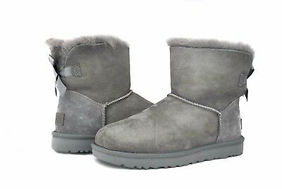 UGG Australia Women's Mini Bailey Bow Boots II Grey Sz 5-10 NEW Version