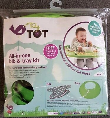 Tidy Tot Bib and Tray Kit with Travel Bag 6m+