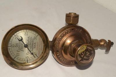 1899 Pat'd. ANTIQUE Heavy Brass CLEVELAND FAUCET USA Valve & Guage STEAM/WATER