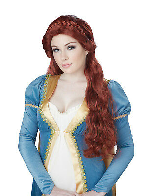 Medieval Beauty Red Auburn Princess Adult Wig Costume Accessory