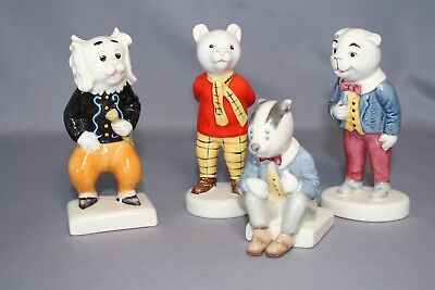 Beswick Rupert the Bear, With Algy Pug, Bill Badger, Pong Ping Set of four