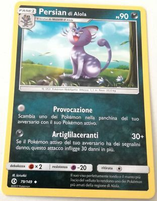 Persian Di Alola 79/149 Set Sole E Luna Non Comune Pokemon Italiana Near Mint Nm