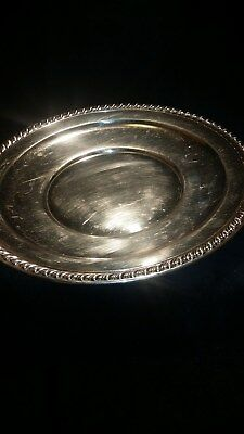 Wallace sterling silver 12 1/8 inch plate, #H104, 502 GMS,no monogram
