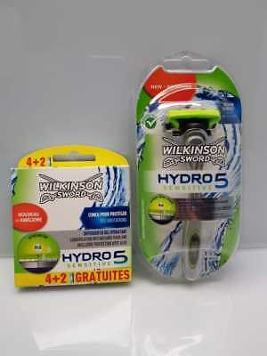 15  Wilkinson Sword Hydro 5 Sensitive Rasierklingen Neu / OVP