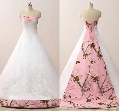 Pink Camo Ball Gown Wedding Dresses Appliques Bridal Gowns Vestidos Custom Made=