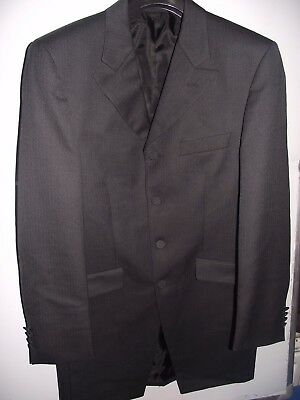 DARK GREY PRINCE Edward Jacket Wedding Suit Formal Wear Morning ...