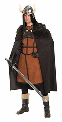 Carnival Toys 29014 – Cape Viking plush and velvet, 130 cm, Black