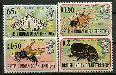 British Indian Ocean Territory 1976 Wildlife Set Mnh** -Cag 120517