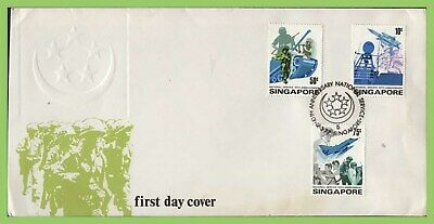 Singapore 1977 Tenth Anniv of National Service set on First Day Cover