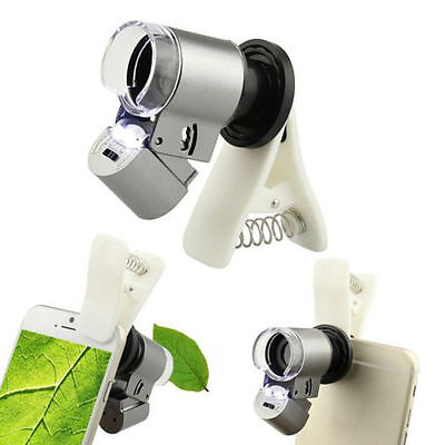 60pc Optical Zoom Camera Clip Telescope Microscope Lens for Universal Cell