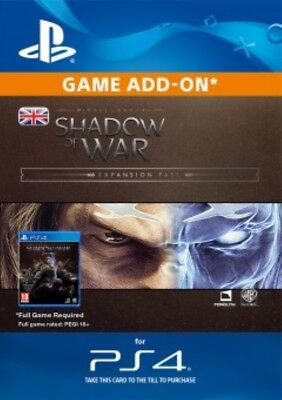 Middle-Earth: Shadow of War Expansion Pass PS4 -Same Day Dispatch