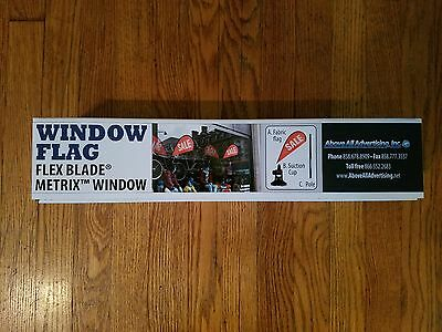 "NEW Metrix Window Flag Flex Blade ""SALE"" Above All Advertising SEALED"