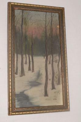 1900 Antique G.E.COLBY ORIGINAL Oil Painting FRAMED ART Chicago Artist