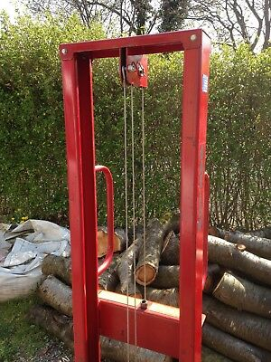 Manual Forklift - winch and cable operated