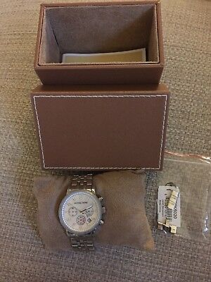 Michael Kors Women's Chronograph Mother of Pearl Stainless Steal Watch MK5020