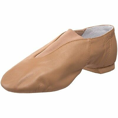 Bloch Adult Slip-On Jazz Shoes (Tan) - (Size: 9 1/2)