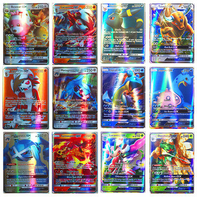 100pcs 95 GX + 5 MEGA Cards Pokemon Card Holo Flash Trading GX Cards Hot Sale