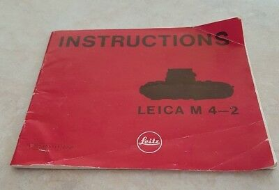 Leitz Leica M4-2 Camera  Instruction Book/manual/booklet