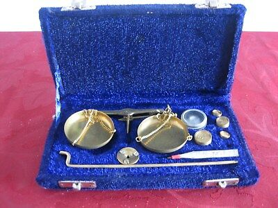 Vintage Precision Small Weight Brass Balance Scales
