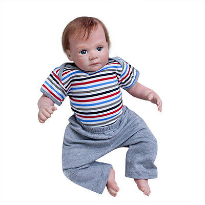 20'' Reborn Toddler Dolls Handmade Lifelike Baby  Silicone Vinyl Boy Doll Beauty