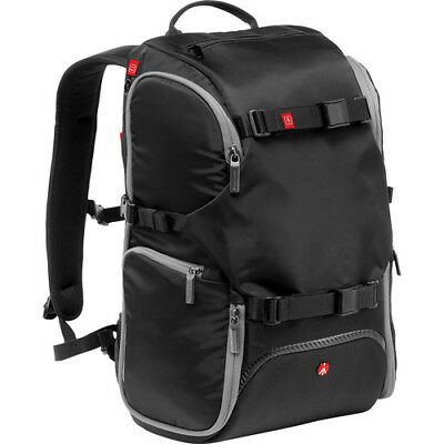 New Manfrotto Advanced Travel Backpack Black Fits Dslr 3 Lens Flash & Accessory