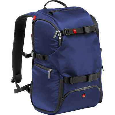 New Manfrotto Advanced Travel Backpack Blue Fits Dslr 3 Lenses Flash & Accessory