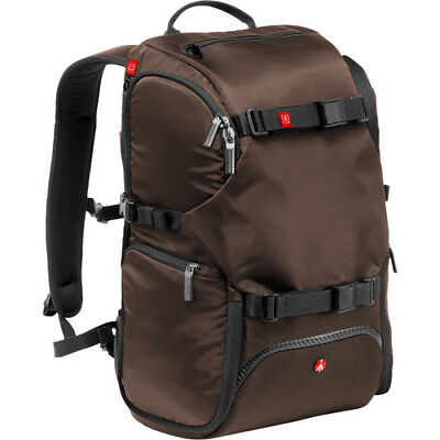 New Manfrotto Advanced Travel Backpack Brown Fits Dslr 3 Lens Flash & Accessory
