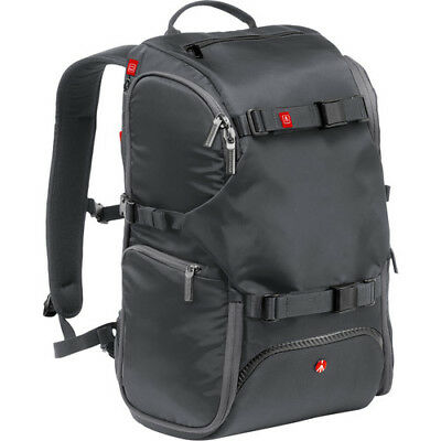 New Manfrotto Advanced Travel Backpack Gray Fits Dslr 3 Lenses Flash & Accessory