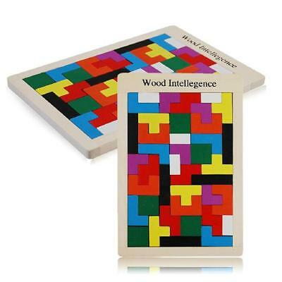 Kid Tangram Brain-Teaser Puzzle Tetris Game Montessori Developmental Kid Toy