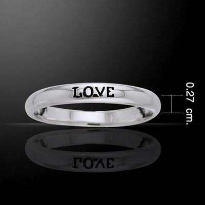 LOVE Sterling Silver Ring - Empowering Words Collection - Simple yet powerful