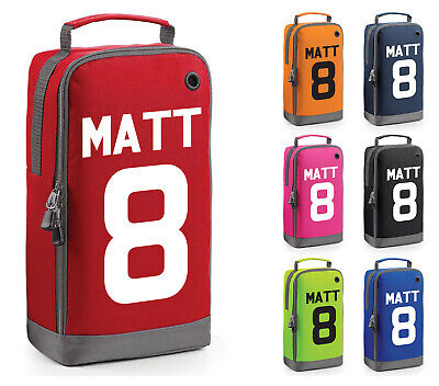 Personalised Childrens Rugby Football Boot Bag Kids Sports PE Kit Sport Gift
