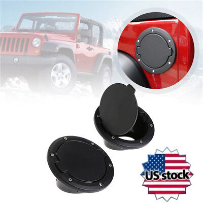 Fuel Filler Door Cover Gas Tank Cap for Jeep Wrangler JK Unlimited 2/4 Door ABS