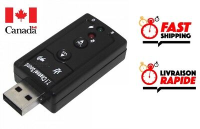 USB 2.0 3D 7.1 Channel External Audio Music Sound Card Adapter