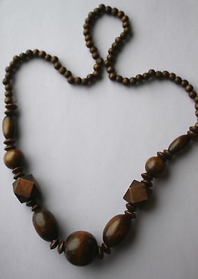 Chunky Wooden Beaded Large Necklace & Earring Set Lot of 3 PCS  Earrings