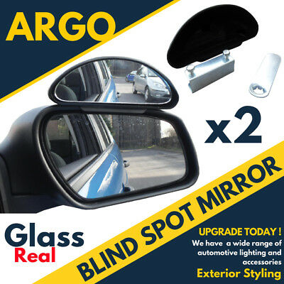 Pair 2x Frog Eye Convex Wide Angle View Car Van Truck Towing Blind Spot Mirrors