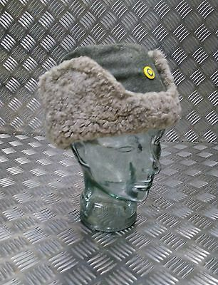 Genuine Military WWII World War 2 Arctic Wool And Sheepskin Cold Weather Hat
