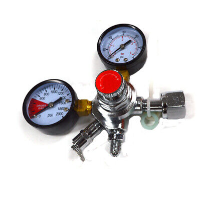 Co2 Double Gauge Beer Regulator w/ shutoff valve - Kegerator -New FREE SHIPPING