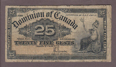 1900 25 Cents Shinplaster - Saunders - Dominion of Canada - E277
