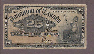 1900 25 Cents Shinplaster - Saunders - Dominion of Canada - E700