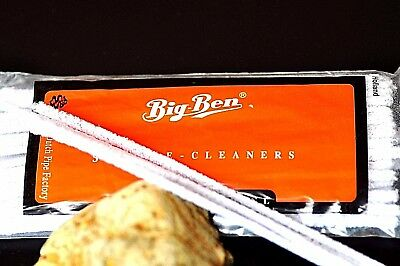 NEW 50pce BIG BEN Tobacco Pipe Cleaners - 16.5cm White Tapered Intensive Cotton