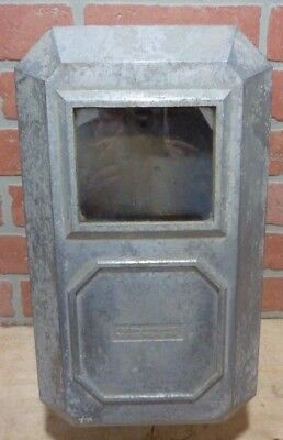 Old Industrial Aluminum Casket Electric Box Glass Front Cover Steampunk Hardware